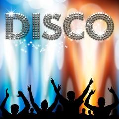 Disco poster light eruptions
