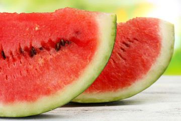 Fresh slice of watermelon, close up