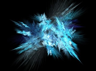 Blue ice abstract fractal effect light background