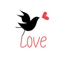 vector love bird