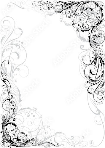 Swirl Black And Gray Ornament Stock Image And Royalty Free Vector