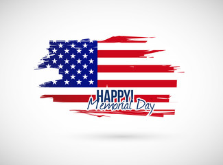 memorial day holiday flag sign illustration