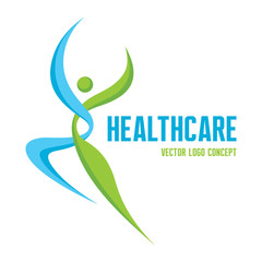 Healthcare - vector logo. Human character.