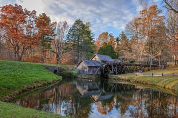 Poster Mills Mabry Mill, a restored gristmill on the Blue Ridge Parkway in Vi