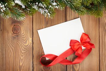 Christmas blank greeting card