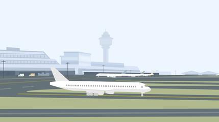 Runway & Airport-Vector