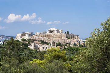 View to the Acropolis, Athens, Greece