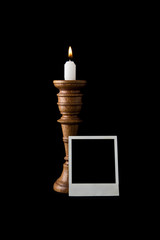candle and photo