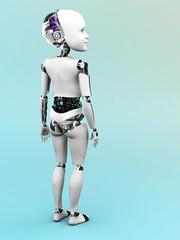 Robot child standing nr 2.