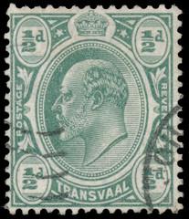 stamp printed in UK shows King George V