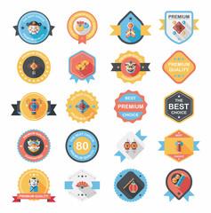 Chinese New Year badge flat banner design background set, eps10