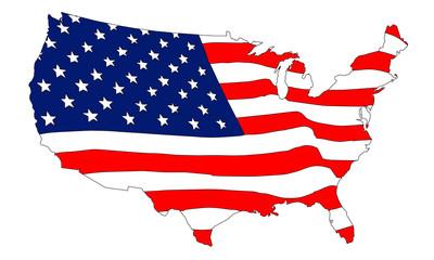 USA als Flagge