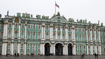 St. Petersburg, Russia. The State Hermitage on Palace Square.
