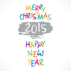 colorful new year 2015 or christmas greeting design vector