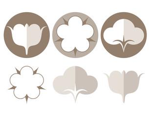 Cotton. Icon set