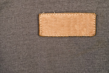 Blank Leather Label Tag