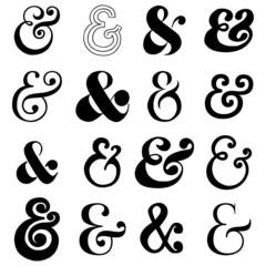 Hand Drawn Ampersands