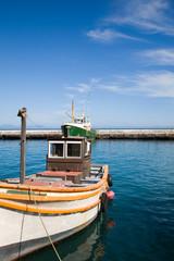 Fishers Boats in kalkbay harbour near Cape Town