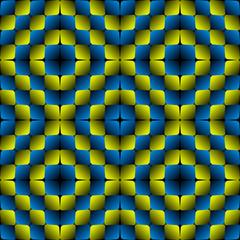 Bulge Rhombuses Optical illusion Vector Seamless Pattern