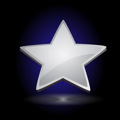 Silver Star Over a Dark Background