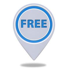 free pointer icon on white background