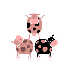 Funny cows for your design