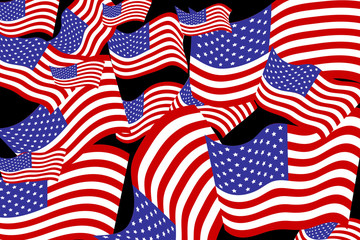 Vector image of the American flag.