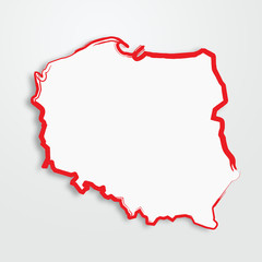 Fototapeta polska, mapa, kontur obraz