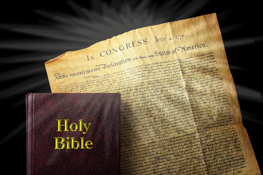 Bible and Declaration of Independence.