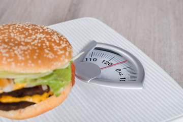Burger On Weighing Scale