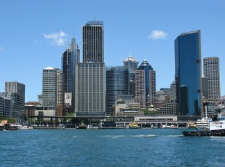 View of Sydney business center in Australia