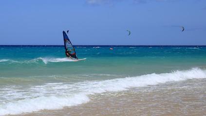 windsurfeur aux canaries