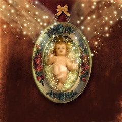 Baby Jesus Christmas greeting card