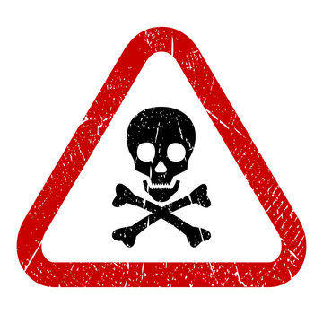 Danger skull vector sign