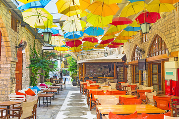 Poster de jardin Chypre The umbrellas