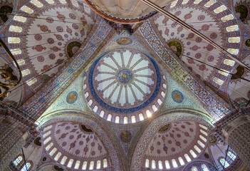The dome of Blue Mosque, Istanbul, Turkey