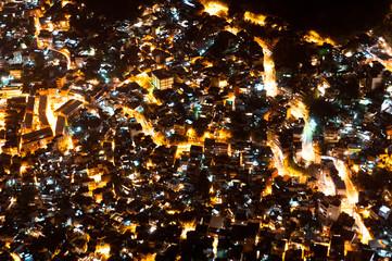 Slum (Shanty Town) Rocinha in Rio de Janeiro by Night