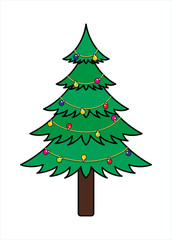 Xmas Tree with Decor Lights