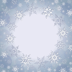 Winter luxury background with snowflakes