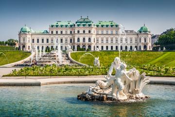 In de dag Wenen Schloss Belvedere in Vienna, Austria