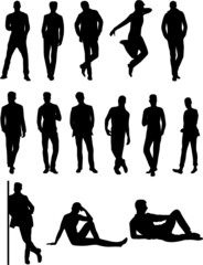 Wall Mural - POSE MASCULINE