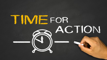 time for action Wall mural