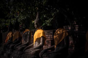 The ancient Buddha, at wat-yaichaimongkol ayutthaya, Thailand