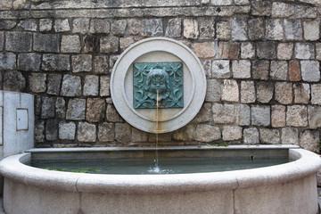 MACAU, MACAU - OCTOBER 15, 2014 - Water fountain and spout at Li