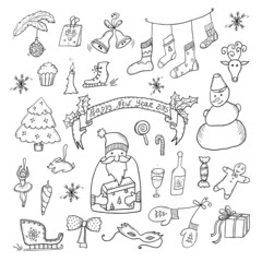 Christmas Hand Drawn Set