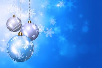 Snow and Xmas Balls