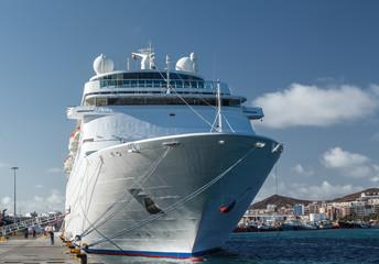 Cruise ship. Las Palmas de Gran Canaria. The Canary Islands.