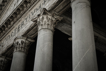 Foto op Canvas Monument Pantheon of Agripa Pillars in Rome, Italy