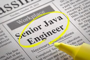 Senior Java Engineer Vacancy in Newspaper.