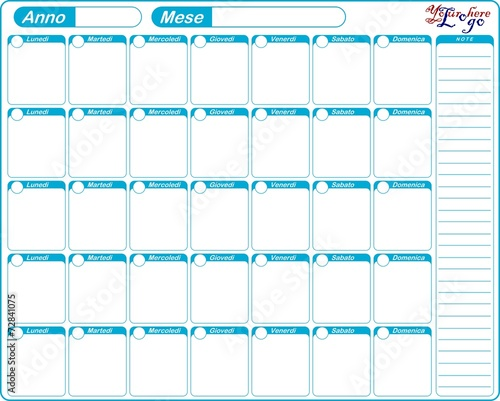 Calendario Planning.Planner Planning Calendario Da Tavolo Mensile Modificabile